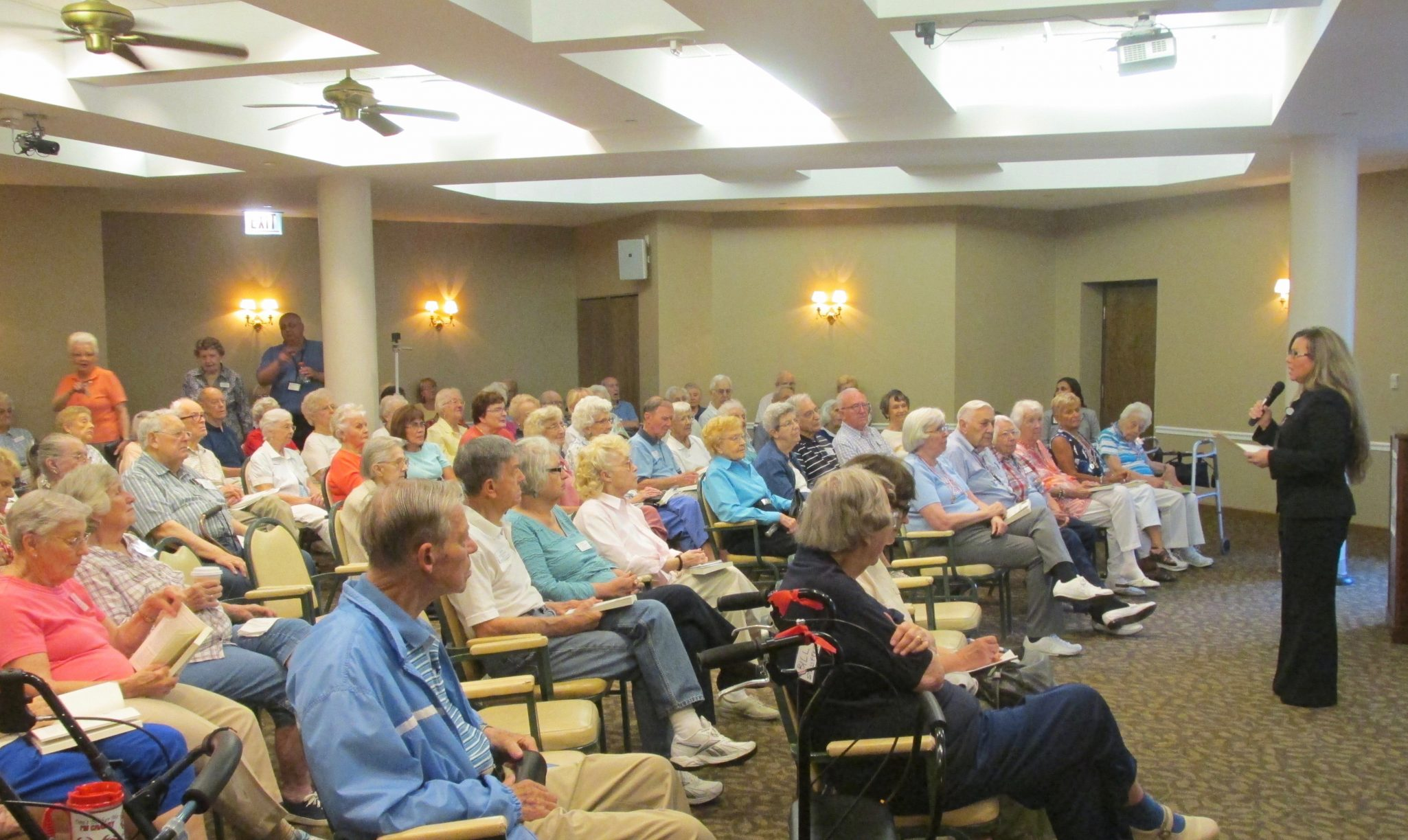Residents of Oak Trace gathered to learn more about the wellness initiative, Masterpiece Living