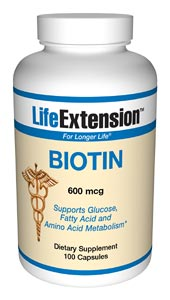 Biotin is an unnumbered member of the water soluble B-complex family, normally only required in minute amounts. Biotin is used as a cofactor of enzymes involved in fatty acid metabolism, gluconeogenesis, and amino acid catabolism, and is essential in maintaining