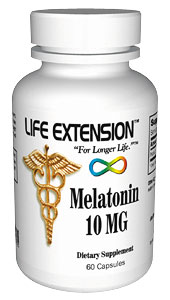 Melatonin | 10 mg, 60 vegetarian capsules