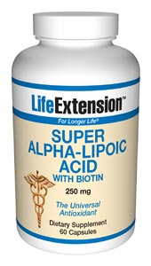 Alpha-lipoic acid is an antioxidant used in Europe to promote liver and nerve health, and confer protective benefits against oxidative processes. Alpha-lipoic acid has been called the universal antioxidant because it boosts glutathione levels in cells already within a normal