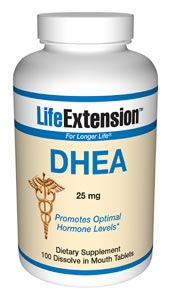 DHEA | 25 mg, 100 dissolve in mouth tablets