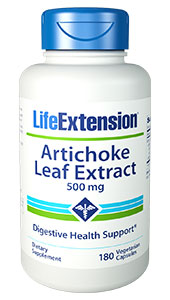 Artichoke Leaf Extract is made  from the long, serrated basal leaves of the plant, which contain the highest  concentration of biologically active compounds. These compounds have displayed  the ability to maintain healthy digestion and liver function.1-9    Chlorogenic acid and cynarin