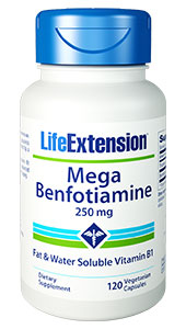 Benfotiamine, a fat-soluble form of vitamin B1 (thiamine), supports healthy blood sugar metabolism and helps protect the bodys tissues against advanced glycation end products and oxidative stress.1 For example, the enzyme transketolase is critical to blood sugar metabolism. Like many