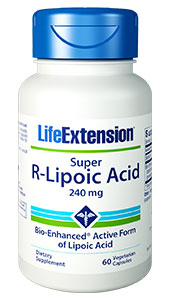 Published studies have shown the critical importance  of lipoic acid in preserving youthful cellular energy by supporting healthy  mitochondrial function. Unlike other forms of lipoic acid, Super R-Lipoic Acid is more bioavailable, stable, and potent,  achieving 1030  times higher peak