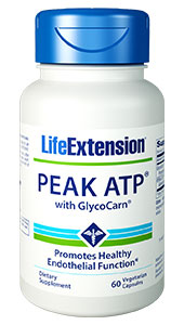 PEAK ATP with GlycoCarn contains two powerful compounds to support optimal cellular energy and vascular  health. Promote optimal endothelial  function, help maintain structural integrity, and more with this unique  supplement!   Benefits  at a Glance          Protects cardiovascular health      Promotes endothelial integrity
