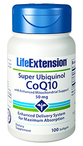 Super Ubiquinol CoQ10 with Enhanced Mitochondrial Support™ | 50 mg, 100 softgels