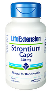 Strontium has been prescribed in Europe  for years to promote healthy bone aging. Strontium is a trace mineral whose  metabolism is closely linked to that of calcium. (It resembles calcium at the  molecular level.) Strontium concentrates in the  skeletal system