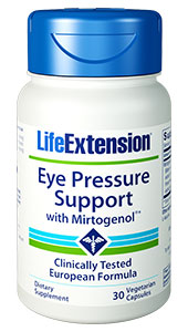 As you age, the fluid pressure inside your eyes can gradually and unnoticeably increase. Eye Pressure Support with Mirtogenol&reg