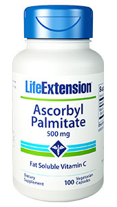 Ascorbyl palmitate (AP) is an ester formed from ascorbic acid and palmitic acid creating a fat-soluble form of vitamin C that can reach tissue areas ascorbic acid cannot.1 This form is synthetic from two compounds