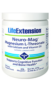Neuro-Mag® Magnesium L-Threonate with Calcium and Vitamin D3 | 225 g (0.496 lb. or 7.94 oz)