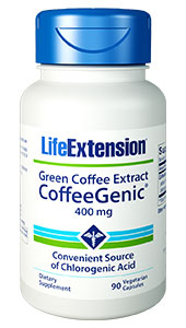 CoffeeGenic® Green Coffee Extract | 400 mg, 90 vegetarian capsules