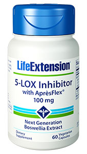 5-lipoxygenase (5-LOX)  is a member of the lipoxygenase family of enzymes. It transforms fatty acids  into leukotrienes. Excess levels of the enzyme 5-LOX sets in motion  inflammatory responses that have been linked to common effects in aging  individuals.1-5       Normal aging