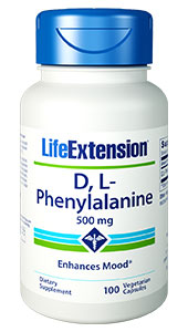 L-phenylalanine is an essential amino acid that can be converted to L-tyrosine in the liver. L-tyrosine can be converted in the brain and in the adrenal glands to dopamine, norepinephrine, and epinephrine (adrenaline) hormones that are depleted by stress, overwork