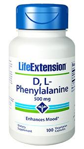 D,L-Phenylalanine Capsules | 500 mg, 100 vegetarian capsules