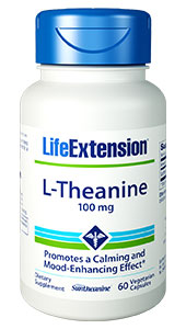 Theanine is the  predominant amino acid of tea that produces calming effects in the brain by  increasing levels of serotonin and dopamine, and blocking the binding of  L-glutamic acid to glutamate receptors.1-18 Life Extension  customers can enjoy the benefits of