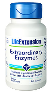 Extraordinary  Enzymes provides you with protease, cellulase,  and lipase  potent enzymes that powerfully support digestion by adapting  to a variety of stomach acid pH conditions. It facilitates optimal nutrient  absorption and broad relief from digestive discomfort, without promoting after