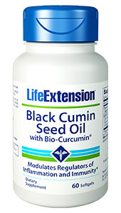 This innovative formula  combines the power of black cumin seed oil with the super nutrient curcumin.  Black cumin seed oil helps to balance both immune and inflammatory responses,  which is critical to guarding our health as we age. Curcumin also