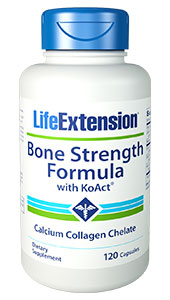 Optimize your bone health with Bone Strength Formula with KoAct. This  patented chelated form of calcium and collagen is designed to support optimal bone health.Benefits  at a Glance  Enhances  bone health  Optimizes  bone strength and flexibilityEnhanced  bone health