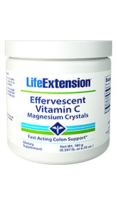 Occasional constipation is one of the most frequent  gastrointestinal complaints in the United States, particularly among women and  the elderly.1 To address this issue, Life Extension offers a  dose-adjustable nutritional solutionEffervescent  Vitamin C - Magnesium Crystalsto provide immediate relief from