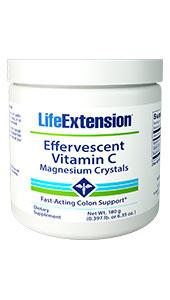 Effervescent Vitamin C – Magnesium Crystals   Net Wt. 180 g (0.397 lb. or 6.35 oz.)