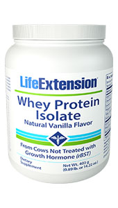 Whey Protein Isolate (Natural Vanilla Flavor) | 403 grams (0.89 lb. or 14.22 oz.)