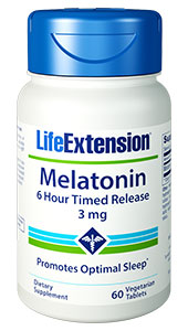 Melatonin 6 Hour Timed Release | 3 mg, 60 vegetarian tablets