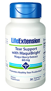 Tear Support with MaquiBright is a unique  oral supplement that supports eye health from the inside out for systemic,  continuous comfort.    Benefits  at a Glance          Promotes healthy tear production      Innovative oral formula that promotes your own  tear production      Contains research