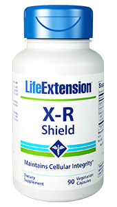 X-R Shield is an all-natural, oral formula that supports  cellular integrity and DNA health. Ionizing radiation emits sufficient energy  to disturb the very atoms were made of, producing ions known as free radicals.  Free radicals have the potential to affect