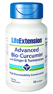 Advanced Bio-Curcumin® with Ginger & Turmerones | 30 softgels