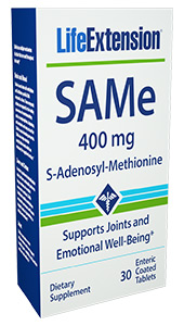 SAMe helps maintain stable mood and joint function without side effects. In addition, SAMe has multiple mechanisms of action that are used throughout the body, especially in the liver, which help maintain liver health. Largely known  for its effects on