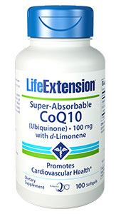 Super-Absorbable CoQ10 (Ubiquinone) with d-Limonene | 100 mg, 100 softgels