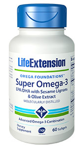 Super Omega-3 EPA/DHA with Sesame Lignans & Olive Extract | 60 softgels
