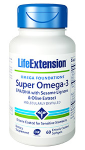 Super Omega-3 EPA/DHA with Sesame Lignans & Olive Extract | 60 enteric coated softgels