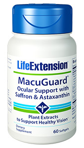MacuGuard® Ocular Support with Saffron & Astaxanthin | 60 softgels