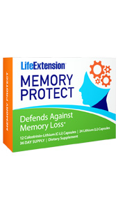 Memory Protect combines a  unique colostrinin polypeptide complex with the trace mineral lithium for  unrivaled memory and cognitive health support for the aging brain. Colostrinin  supports cognition, memory, and also inhibits inflammatory factors in the brain  which can lead to