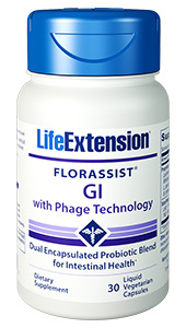 FLORASSIST® GI with Phage Technology | 30 liquid vegetarian capsules