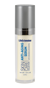 Life Extension's Skin Care Collection is designed as an advanced skin renewal program to support cell regeneration, replenish moisture, and to help diminish the signs of aging. One of the key components of this program is our unique Anti-Aging Serum. This powerful serum enhances hydration with ceramides and a rejuvenating peptide to help firm and tone the skin while reducing the appearance of fine lines and wrinkles. Hydration is increased with Oryza Ceramide made from rice bran and rice germ, rich in glycosphingolipids and hyaluronic acid which occurs naturally in the body to help retain collagen, increase moisture, and provide elasticity and flexibility. This youth-promoting serum is designed to make your skin retain a soft, smooth look and feel.