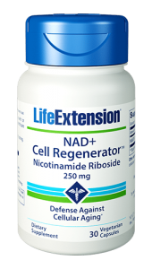 NAD+ Cell Regenerator™ promotes systemic youthful functions by providing nicotinamide riboside — a patented compound for reversing the age-related decline in NAD+ (nicotinamide adenine dinucleotide) levels. Found in every cell in the body, this enzyme plays a critical role in maintaining healthy cellular metabolism. Nicotinamide riboside represents an innovative advance to combat aging that functions via unique mechanisms not found in typical dietary supplements. And with NAD+ Cell Regenerator™, you now have an effective and affordable method to boost the critical NAD+enzyme for refreshed vitality.