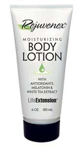 Rejuvenex® Body Lotion provides the best agents known to science to promote healthier looking skin, Antioxidant vitamins and melatonin and topically applied nucleic acids (RNA) to reduce the appearance of creases.