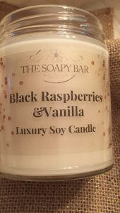 Black Raspberry and Vanilla Soy Candle