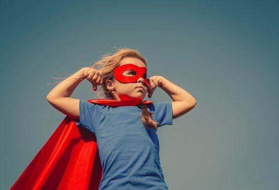 Supergirl child hero pose