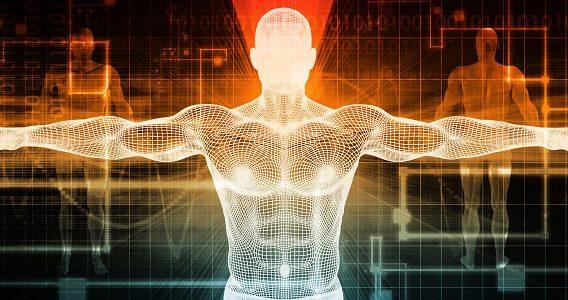 Human body tech view