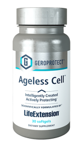 Ageless Cell™ is the first supplement in our breakthrough GEROPROTECT™ line. It is a unique formula designed to inhibit cellular senescence, a natural part of the aging process where cells no longer function optimally. Ageless Cell™ helps rejuvenate near-senescent cells and encourages the body's healthy process for dealing with senescent ones. Formulated by a partnership between Life Extension® and Insilico Medicine, Inc., Ageless Cell™ can help turn back the clock at the cellular level.