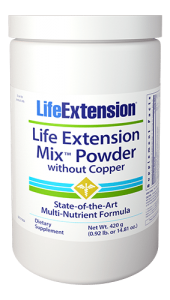 Studies show that people who eat the most fruits and vegetables enjoy healthier and longer lives, but getting the recommended five servings a day is difficult for even the healthiest diets. That's why we created Life Extension Mix™, a daily supplement that provides all the high-potency vitamins, minerals, and amino acids needed to form the cornerstone of a comprehensive health maintenance program. Our unrivaled formula saves time and money by combining the most important nutrients ? including unique vegetable, fruit, and botanical extracts ? into one product, eliminating the need to take dozens of separate supplements. For true full-spectrum nutrition, try Life Extension Mix™ ? the most complete multi-nutrient formula on the market!
