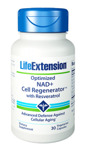 Optimized NAD+ Cell Regenerator™ with Resveratrol combines unique nutrients for longevity and youthful cellular energy production. NIAGEN® nicotinamide riboside, trans-resveratrol, quercetin, fisetin, trans-pterostilbene, and more support healthy cellular metabolism, fight age-related fatigue, regulates genes that control aging, and more. Take the fight against aging to the cellular level with Optimized NAD+ Cell Regenerator™ with Resveratrol!