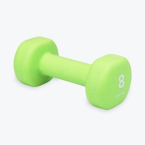 Green 8lb hand weights