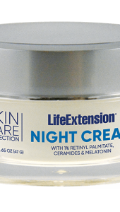 Designed as an advanced skin renewal program to support cell regeneration, replenish moisture, and to help diminish the signs of aging. One of the key components of this program is our unique Night Cream. This formula contains retinyl palmitate (1.0%), a derivative of vitamin A, that's been shown to bind with skin-cell receptors to trigger skin renewal. Our Night Cream is further enhanced with rice bran ceramides (0.5%) to enhance hydration for youthful, vibrant skin. Another important component of this formula is melatonin, which studies have shown acts as a powerful antioxidant, supports photo-protection, DNA function, and contributes to skin rejuvenation. This youth-promoting lotion is designed to make your skin retain a soft, smooth look and feel.