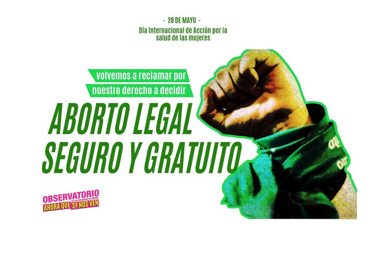 puño arriba con pañuelo verde de la campaña por el aborto legal seguro y gratuito