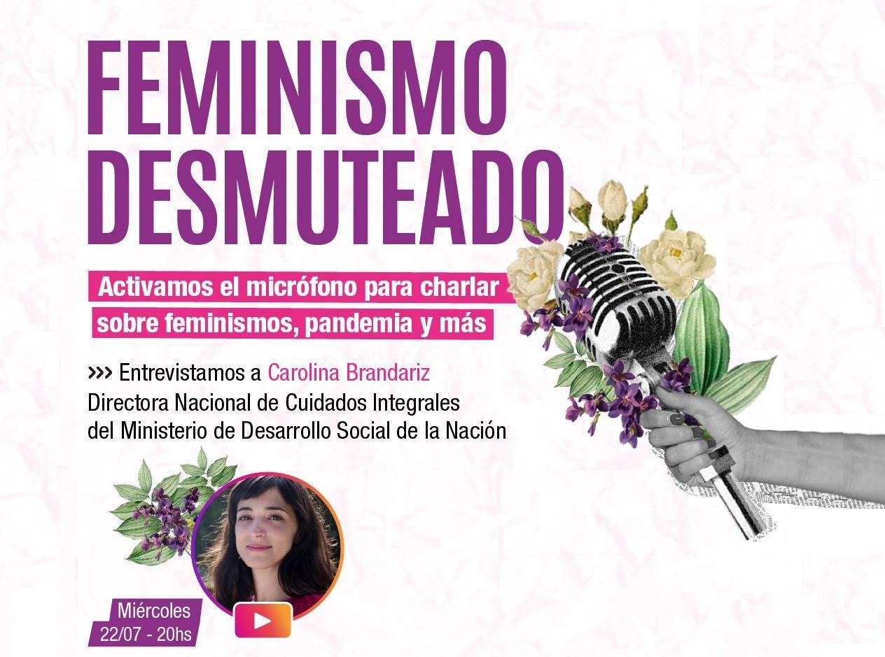 Microfono Feminismo Desmuteado Charla con Carolina Brandariz