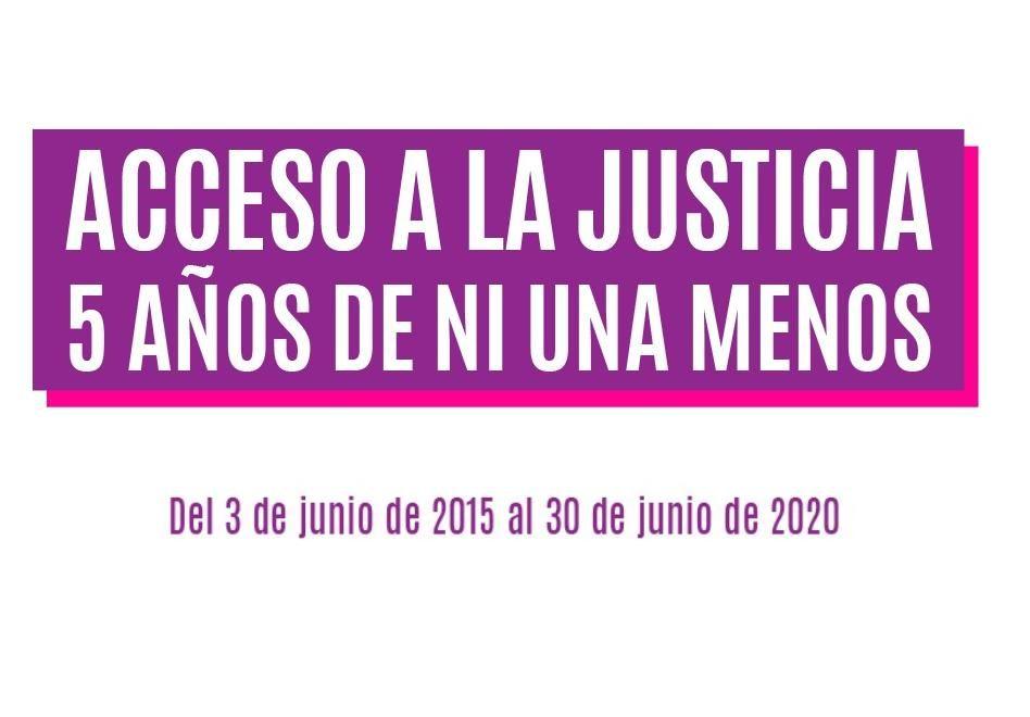 Acceso a la justicia a 5 años de ni una menos